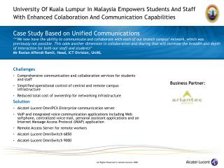 Case Study Based on Unified Communications