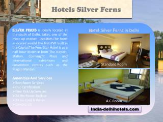 Services of Silver Ferns Hotel in Delhi