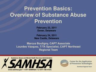 Prevention Basics: Overview of Substance Abuse Prevention