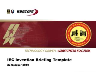 IEC Invention Briefing Template 22 October 2010