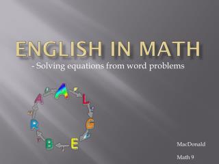 English in Math