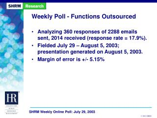 Weekly Poll - Functions Outsourced
