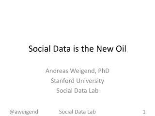 Social Data is the New Oil