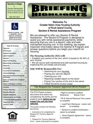 Welcome To Greater Metro Area Housing Authority  of Rock Island County