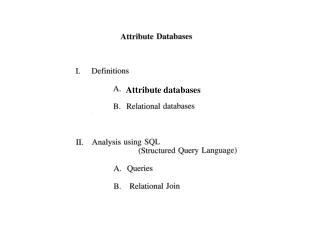 Attribute databases