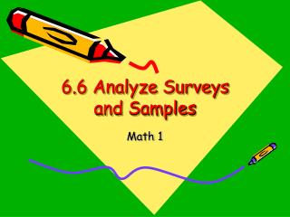 6.6 Analyze Surveys and Samples