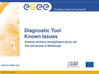 Diagnostic Tool Known Issues