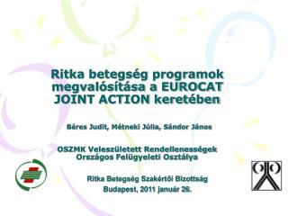 Ritka Betegség Szakértői Bizottság  Budapest, 2011 január 26.