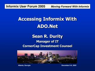 Accessing Informix With ADO.Net