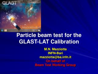 Particle beam test for the GLAST-LAT Calibration