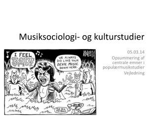 Musiksociologi- og kulturstudier