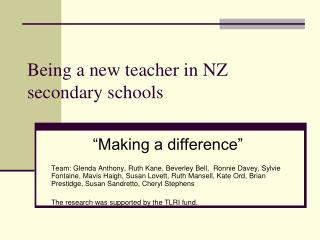 Being a new teacher in NZ secondary schools