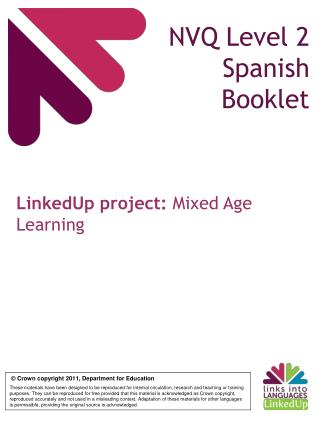 NVQ Level 2 Spanish Booklet