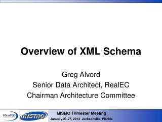 Overview of XML Schema