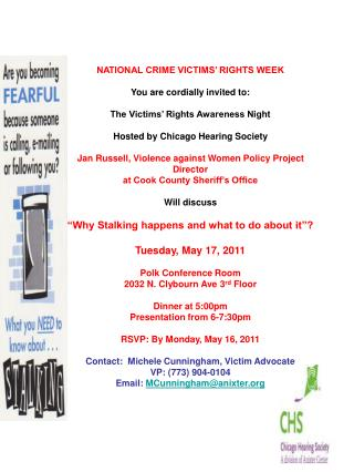 NATIONAL CRIME VICTIMS' RIGHTS WEEK You are cordially invited to: