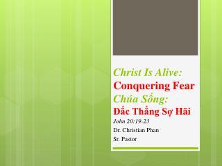 Christ Is Alive:  Conquering Fear Chúa Sống : Đắc Thắng Sợ Hãi