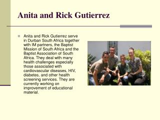 Anita and Rick Gutierrez