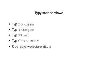 Typy standardowe