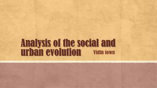 Analysis of the social and urban evolution