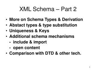 XML Schema – Part 2