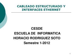 CABLEADO ESTRUCTURADO Y  INTERFACES ETHERNET