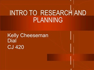 INTRO TO  RESEARCH AND PLANNING