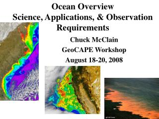 Ocean Overview Science, Applications, & Observation Requirements