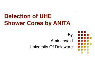 Detection of UHE Shower Cores by ANITA