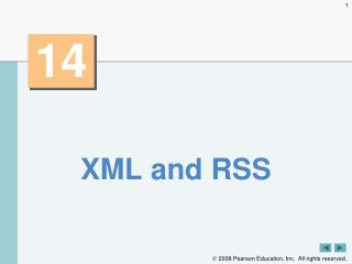 XML and RSS