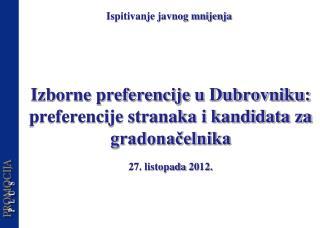 Izborne preferencije u Dubrovniku: preferencije stranaka i kandidata za gradonačelnika