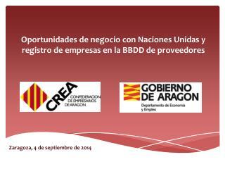 Oportunidades de  n egocio  con Naciones Unidas y registro de empresas en la BBDD de proveedores
