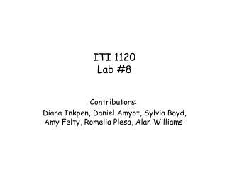ITI 1120 Lab #8