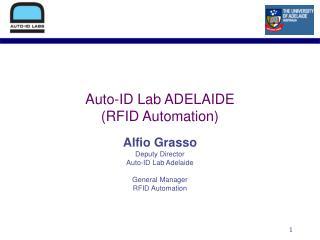 Auto-ID Lab ADELAIDE (RFID Automation)