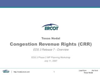 CRR EDS3-R7 Overview