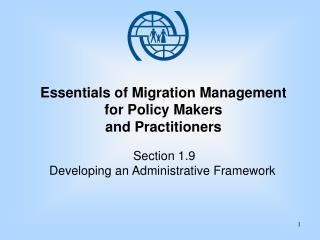 Essentials of Migration Management for Policy Makers  and Practitioners