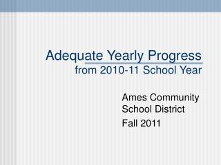 Adequate Yearly Progress from 2010-11 School Year