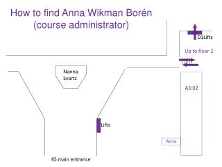 How to find  Anna Wikman Borén (course administrator)