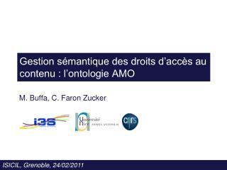 Gestion sémantique des droits d'accès au contenu : l'ontologie AMO
