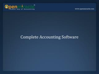 Complete Accounting Software
