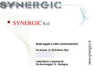 SYNERGIC  S.r.l