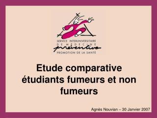Etude comparative étudiants fumeurs et non fumeurs