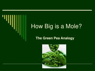 How Big is a Mole?