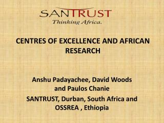 CENTRES OF EXCELLENCE AND AFRICAN RESEARCH