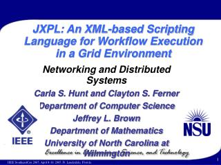 JXPL: An XML-based Scripting Language for Workflow Execution in a Grid Environment