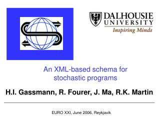 An XML-based schema for stochastic programs