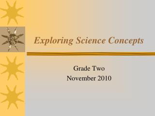 Exploring Science Concepts