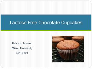 Lactose-Free Chocolate Cupcakes