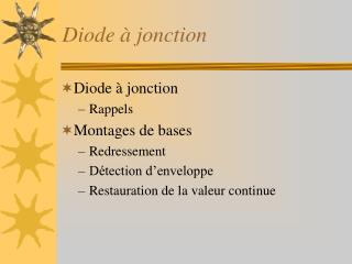 Diode � jonction