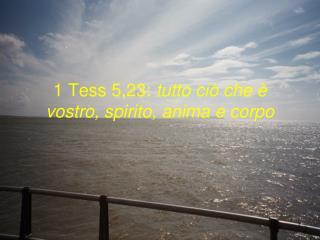 1 Tess 5,23:  tutto ciò che è vostro, spirito, anima e corpo