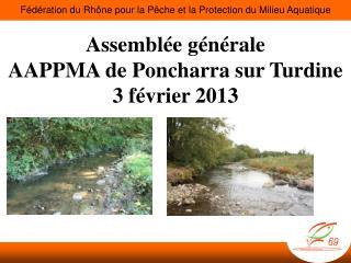 Assemblée générale AAPPMA de  Poncharra  sur  Turdine 3 février 2013